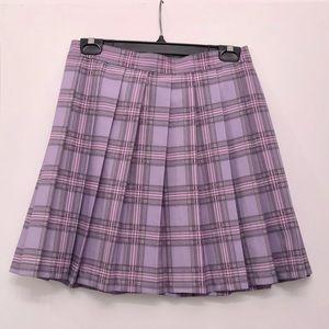 EUC Lazy Oaf plaid skirt